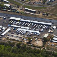 V8  Supercars 2016. Aerial Photography Shadeworks  Structures. Photo Shane Eecen / Creative Light Studios