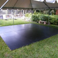 Outside dance floor with out Pro Floor