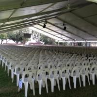 chairs under pavilion