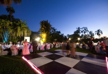 dance floor with snake lights