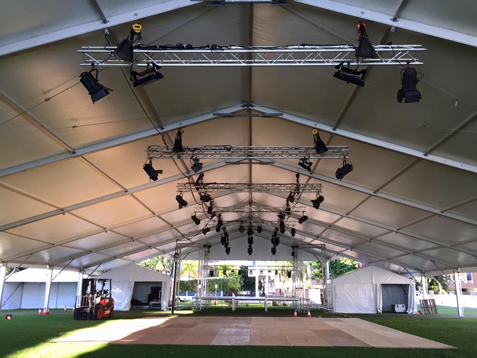 outdoor venue setup