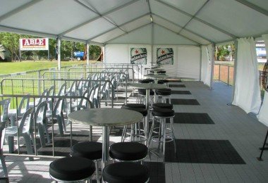 pavilion with chairs and table