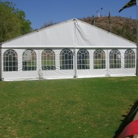 white marquee with walls