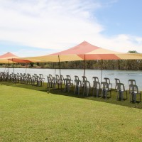 marquees by lake