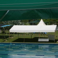 marquee by swimming pool