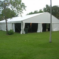 outdoor white marquee