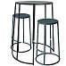 Bongo Table and Stools Black